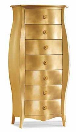 Cassettiera Art. 371 foglia oro
