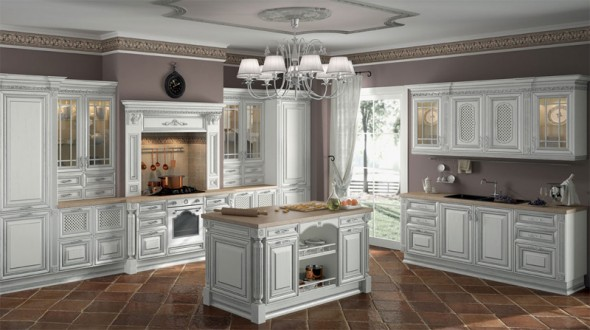 cucine con isola contemporanee diemme napoli luxury