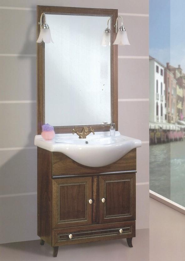 mobili bagno classico napoli giada 75 con cassetto