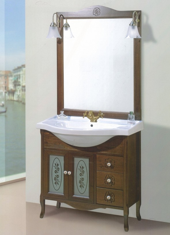 mobili bagno classico napoli mara 85 tutto specchio