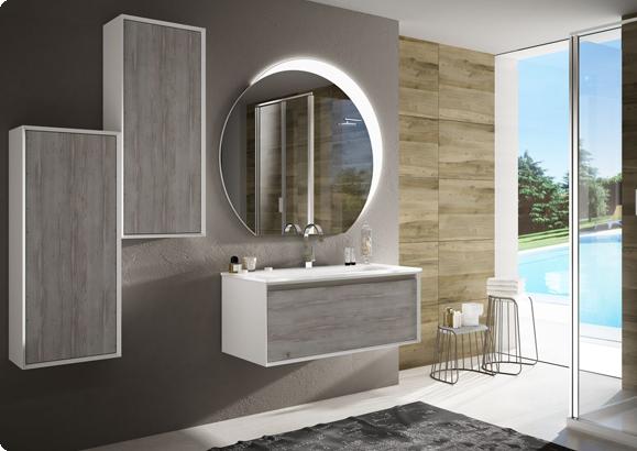 mobili bagno moderno napoli samoa pino sbiancato
