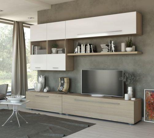Pareti attrezzate moderne ninocco arredamenti - Soggiorni pareti attrezzate moderne ...